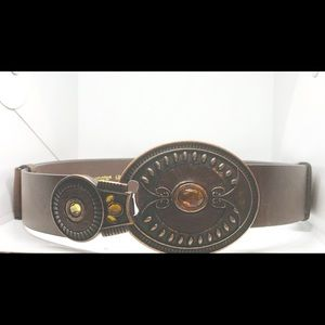 Chico's brown leather belt mL